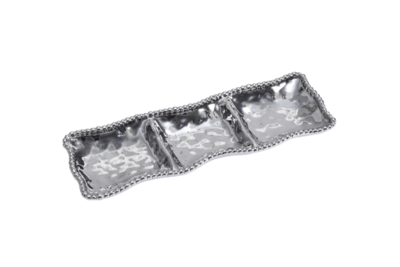 Pampa Bay Silver 3 Section Tray
