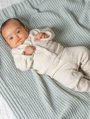 Barefoot Dreams Waffle Baby Blanket, Sea Glass