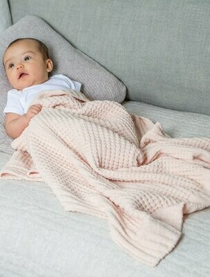 Pink Waffle Baby Blanket by Barefoot Dreams
