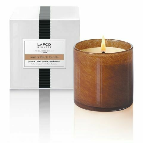 Lafco Amber Vanilla Candle, Foyer