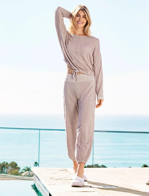 Barefoot Dreams Women's Crinkle Set, Small, Rose