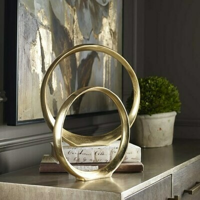 Golden Circles Sculpture Set