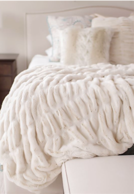 Couture Faux Mink Throw Blanket