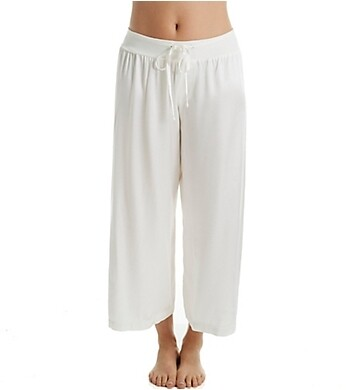 PJ Harlow Jolie Capri Satin Pants Pearl XS
