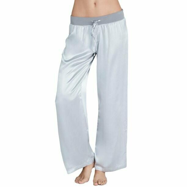 PJ Harlow Jolie Capri Satin Pants Silver M