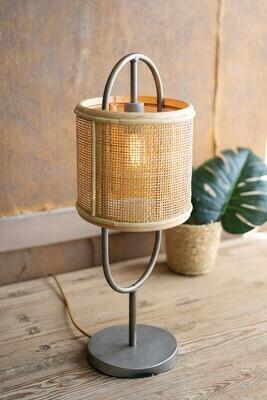 Rattan Shade Table Lamp