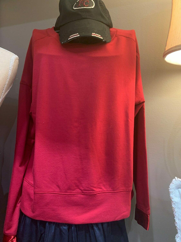 PJ Harlow Izzy Sweatshirt Red M