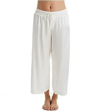 PJ Harlow Jolie Capri Satin Pants Pearl M