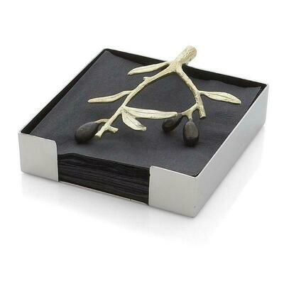 Olive Branch Cocktail Napkin Holder by Michael Aram