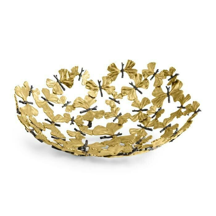 Butterfly Gingko Centerpiece Bowl by Michael Aram