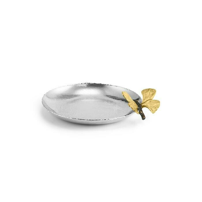 Michael Aram Butterfly Gingko Round Trinket Tray