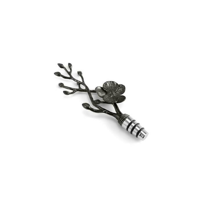 Black Orchid Wine Stopper by Michael Aram
