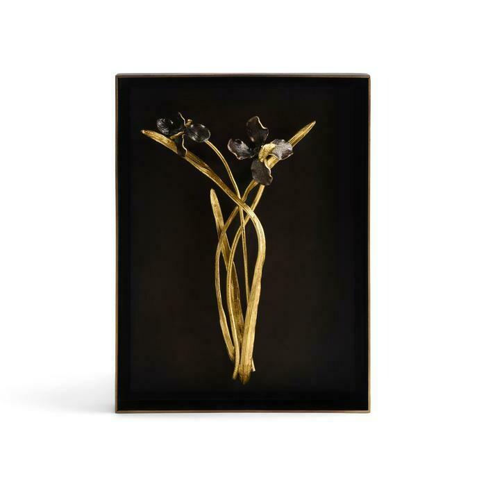 Michael Aram Black Iris Shadow Box
