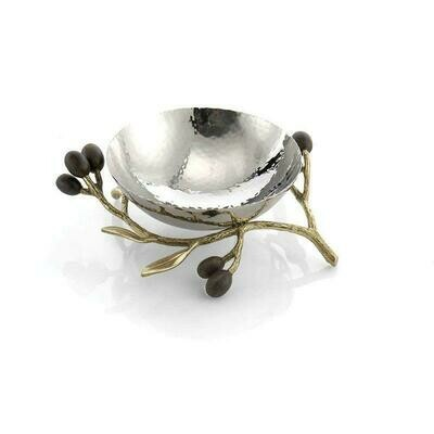 Olive Branch Gold Nut Dish by Michael Aram