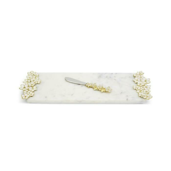 Michael Aram Cherry Blossom Cheese Board withe Knife Small