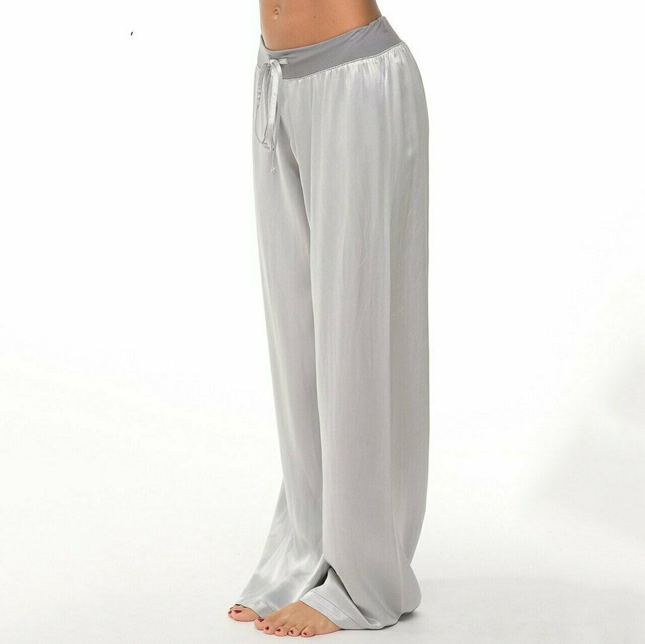 PJ Harlow Jolie Satin Pant Silver L