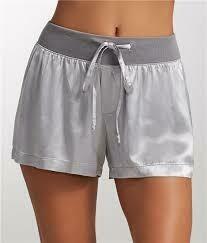 PJ Harlow Mikel Satin Shorts Silver XS