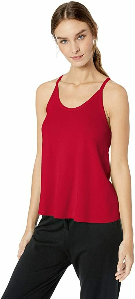 PJ Harlow Cami Rib Knit Top Red XL