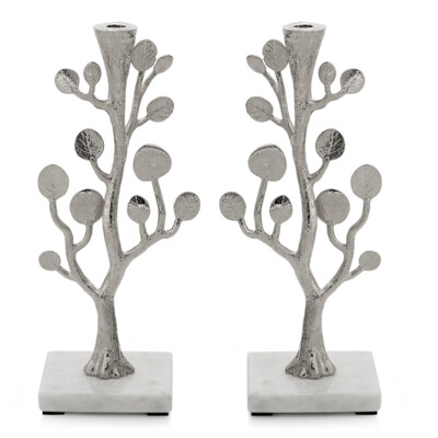 Set/2 Leaf Candleholders by Michael Aram
