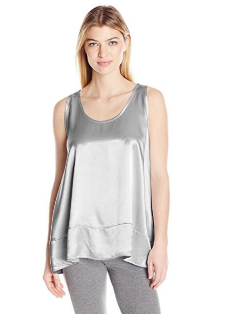 PJ Harlow Natalie Satin Top Silver S