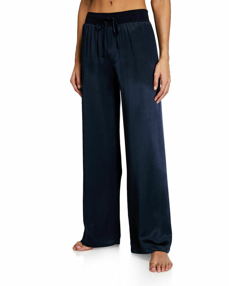 PJ Harlow Jolie Satin Pants Navy S