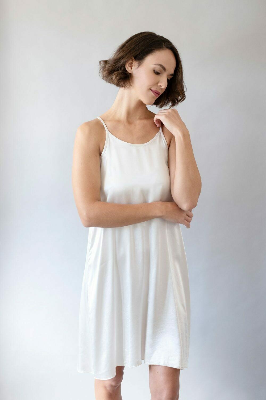 PJ Harlow Ruby Satin Gown Pearl S