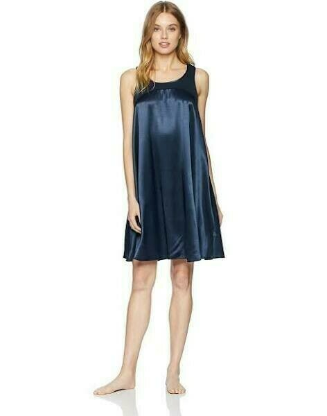 PJ Harlow Ruby Satin Gown Navy M