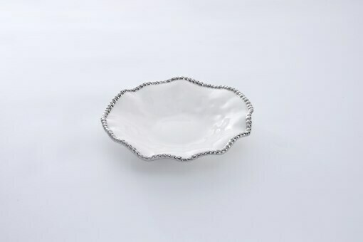 cer-1135w porcelain round wavy serving plate