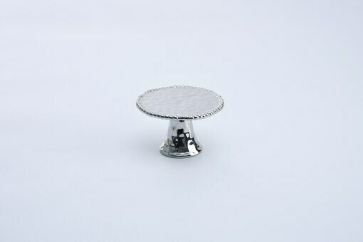 Pampa Bay Silver Porcelain Cupcake Stand