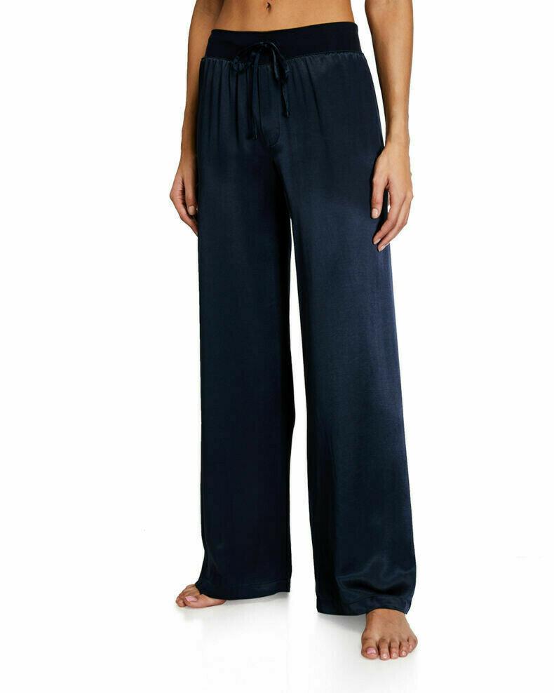 PJ Harlow Jolie Satin Pants Navy M