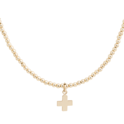 enewton Classic Classic Gold 2mm Choker with Cross Charm