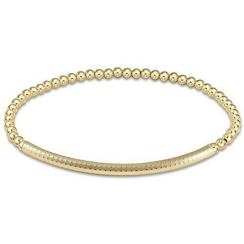 enewton Bliss Bar 3mm Gold Bracelet