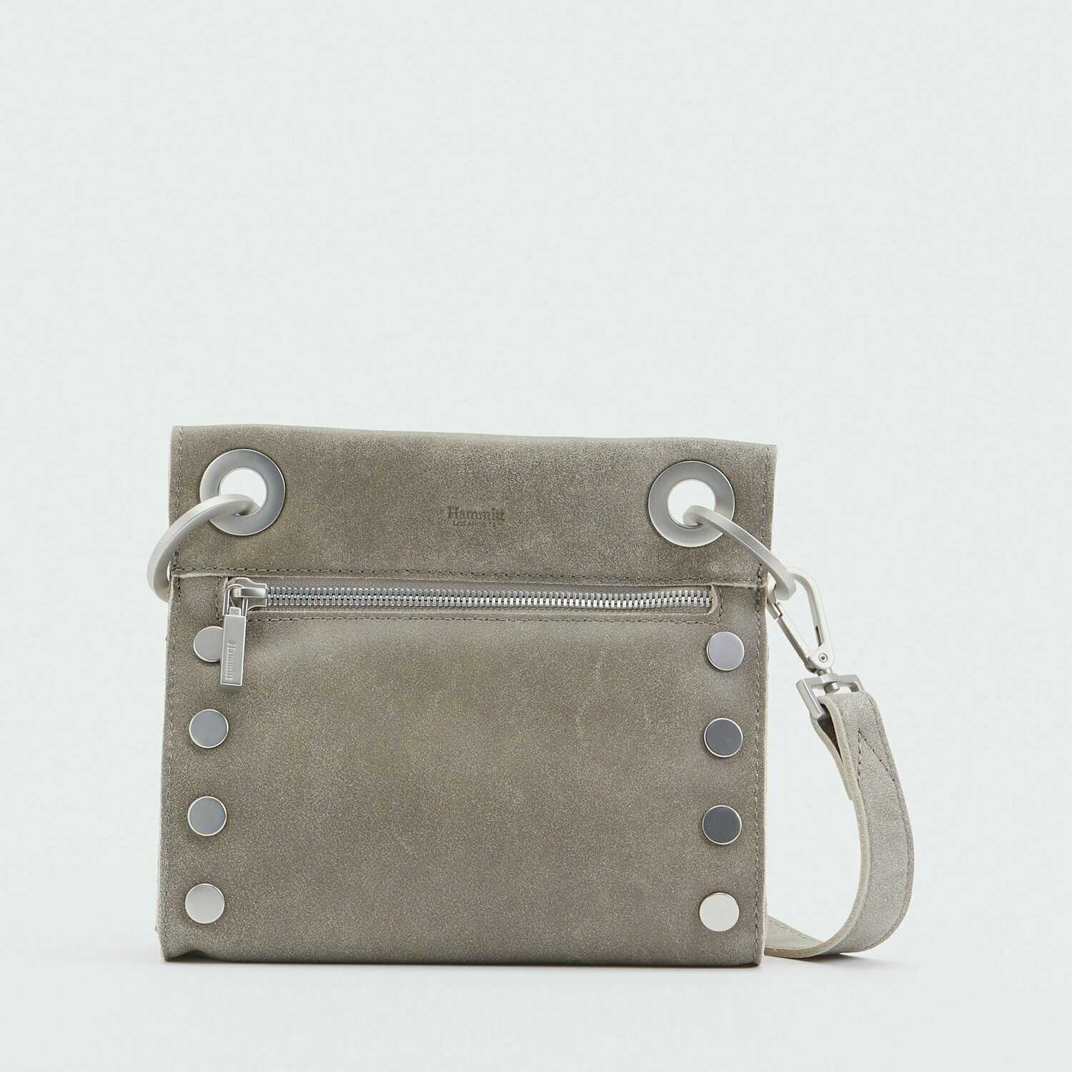 Tony Small Pewter with Brushed Silver Hardware