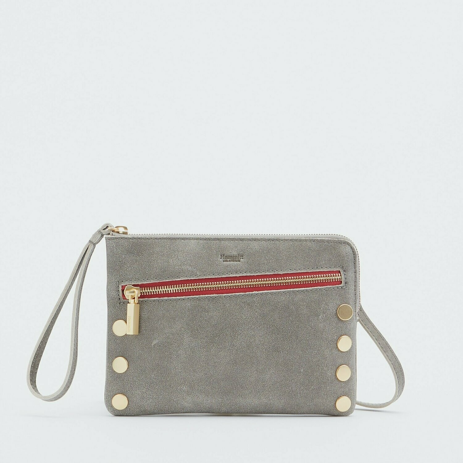 Hammitt Nash Small 2 Pewter with Brushed Gold Hardware