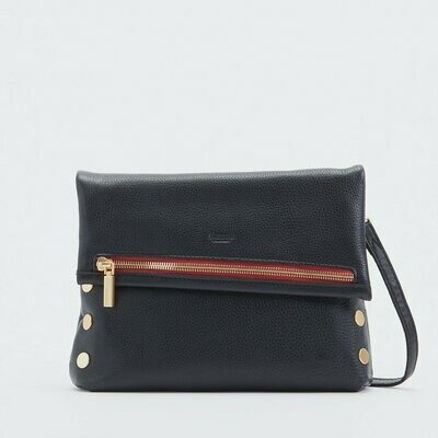 Hammitt VIP Medium Black with Brushed Gold with Red Zipper
