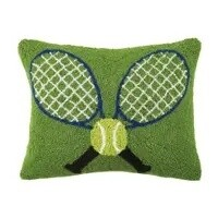 Crossed Tennis Racquets Hook Pillow