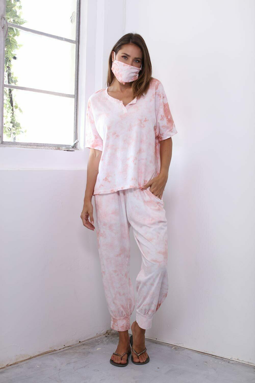 PJ Harlow JoJo Reva Jogger Set Tie Dye Pink 3