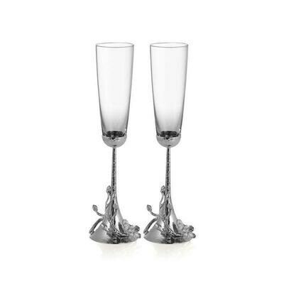 White Orchid Toasting Flute