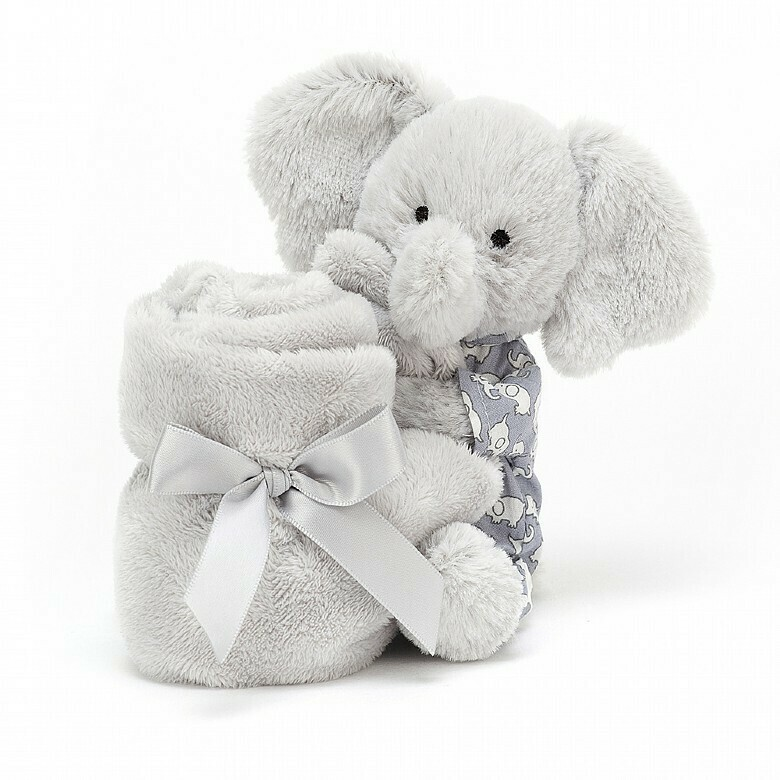 Jellycat Grey Bedtime Elephant Soother