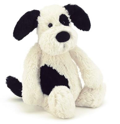 Jellycat Bashful Black and Cream Medium Puppy