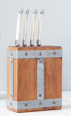 Rectangular Wood Knife Block by Etu Home