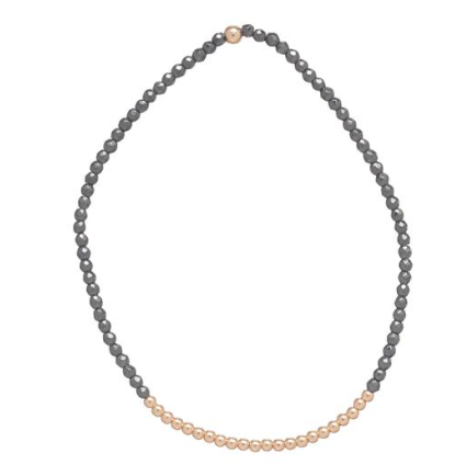 enewton Faceted Hematite Bliss 2mm Bead Bracelet