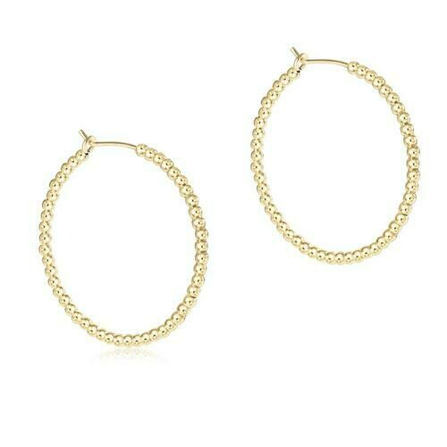 enewton Beaded Gold 1.25 Hoop Earring, 2mm
