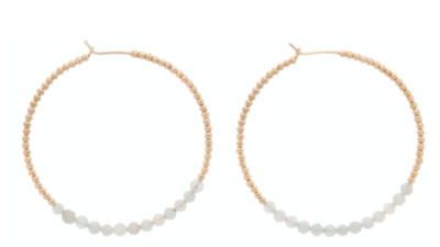 enewton Gold Bliss Hoop Earring, Aquamarine