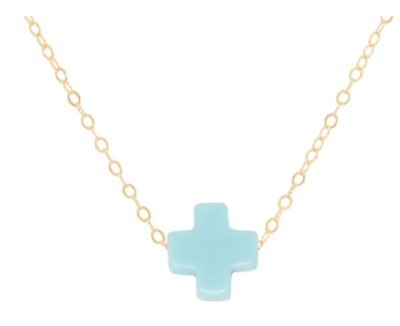 n16gsct gold cross turquoise