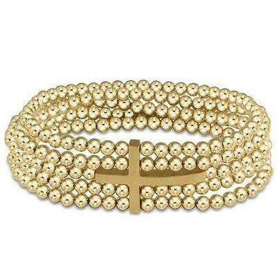 enewton Dream Inspire 5-Strand 4mm Bead Bracelet, Gold