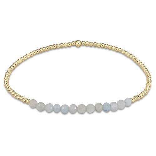 Enewton Gold Bliss 2mm Aquamarine Bracelet