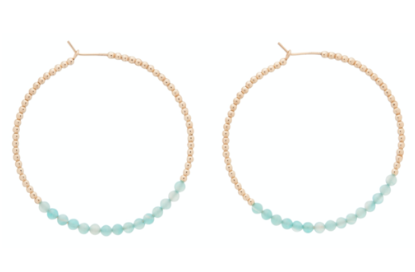 "enewton Gold Bliss 1.75"" Hoop Earring, Amazonite"