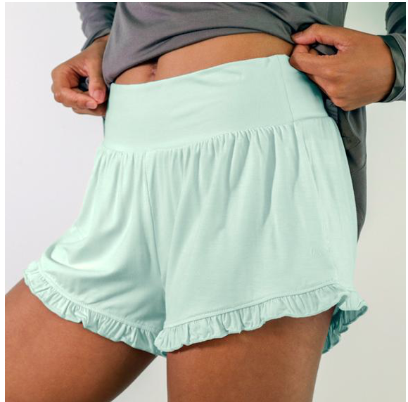 Faceplant Dreams Bamboo Ruffle Shorts