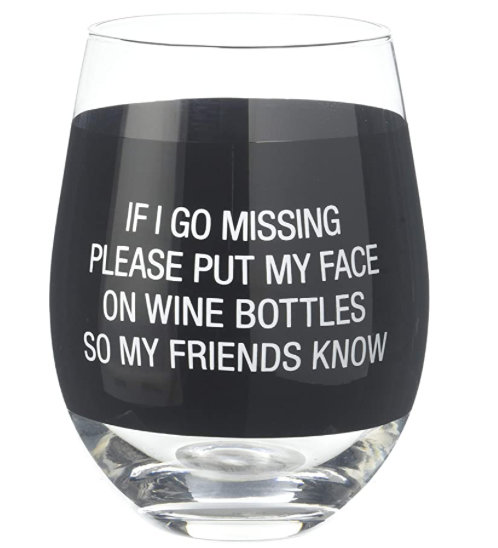 My Face Wine Glass